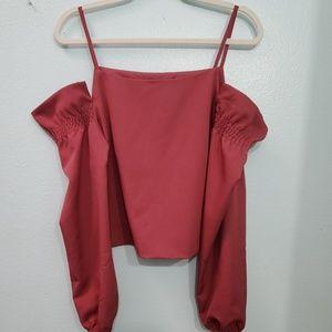 ROMEO + JULIET Couture Cold Shoulder Top